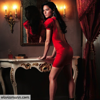 Olivia Munn in Red Hot in Jezebel