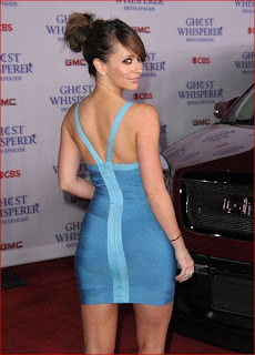 Jennifer Love Hewitt Sexy in Blue Mini Dress