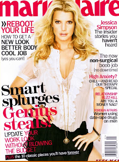 Jessica Simpson Does Marie Claire Magazine January 2009