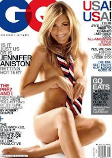 Jennifer Aniston No Clothes on GQ Cover January 2009