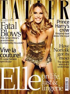 Elle Macpherson Shows Cleavage On Tatler Magazine
