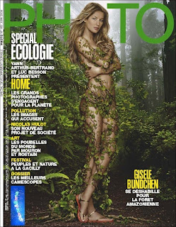 Gisele Bundchen - Nude Body Paint in Photo Magazine