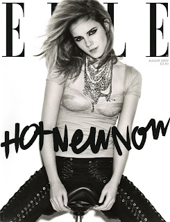 Emma Watson At UK Elle August 2009 Magazine Subscribers Cover