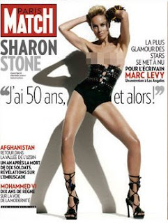Sharon Stone Hot On Paris Match Magazine