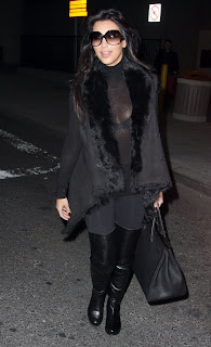Kim Kardashian Sexy in Black C-Thru