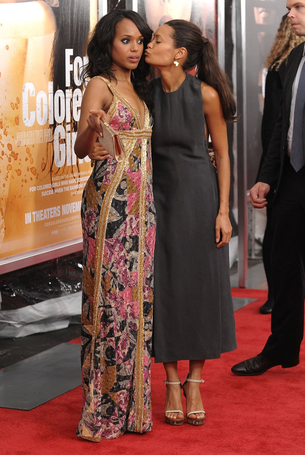 Thandie Newton Side Boob At For Colored Girls Premiere