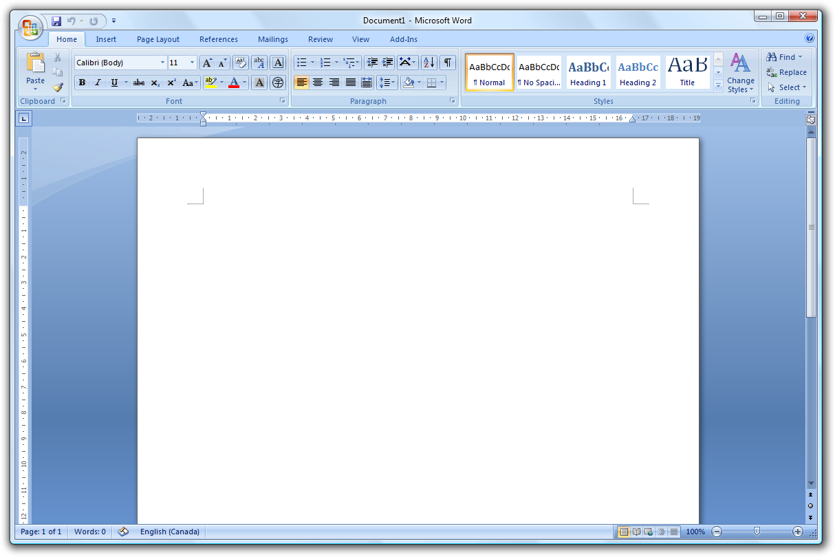 how to open paged document on word