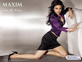 Soha ali khan hot picture in black clothes