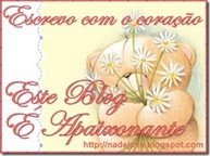 Selo recebido de w.nadejane.blogspot.com obrigado amiga nade.