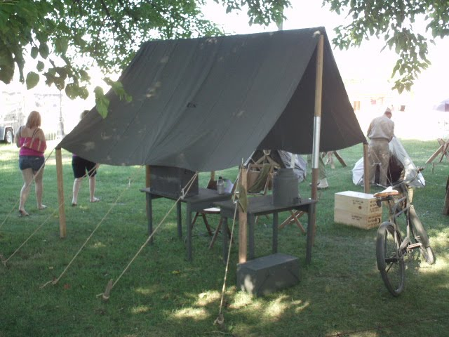 Small Fly to fit over Small Wall Tent or stand by itself & Historical Military Tent Flys | Armbruster Tent Maker