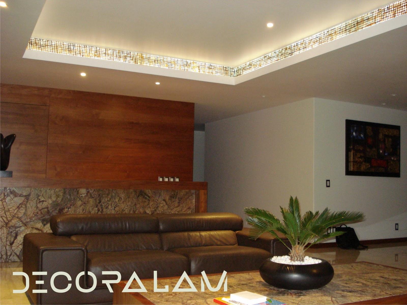 Pin plafones en salas wallpapers real madrid on pinterest for Plafones decorativos pared