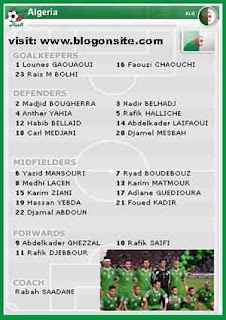 Algeria squad world cup 2010