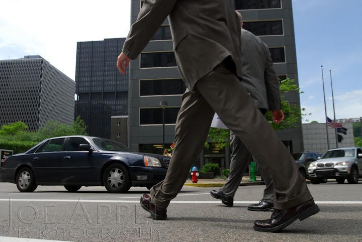 Pedestrians in a cross walk