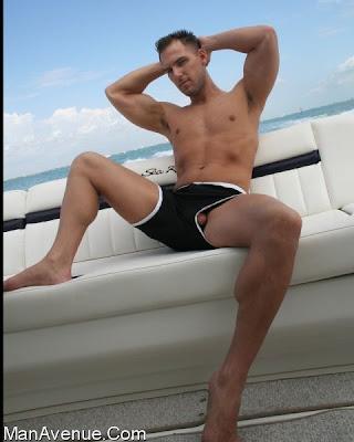 Brandon on freeballin on a yacht