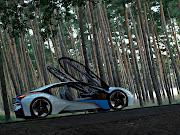 . BMW 2013 Plug In Hybrid doors open . bmw plug in hybrid doors open