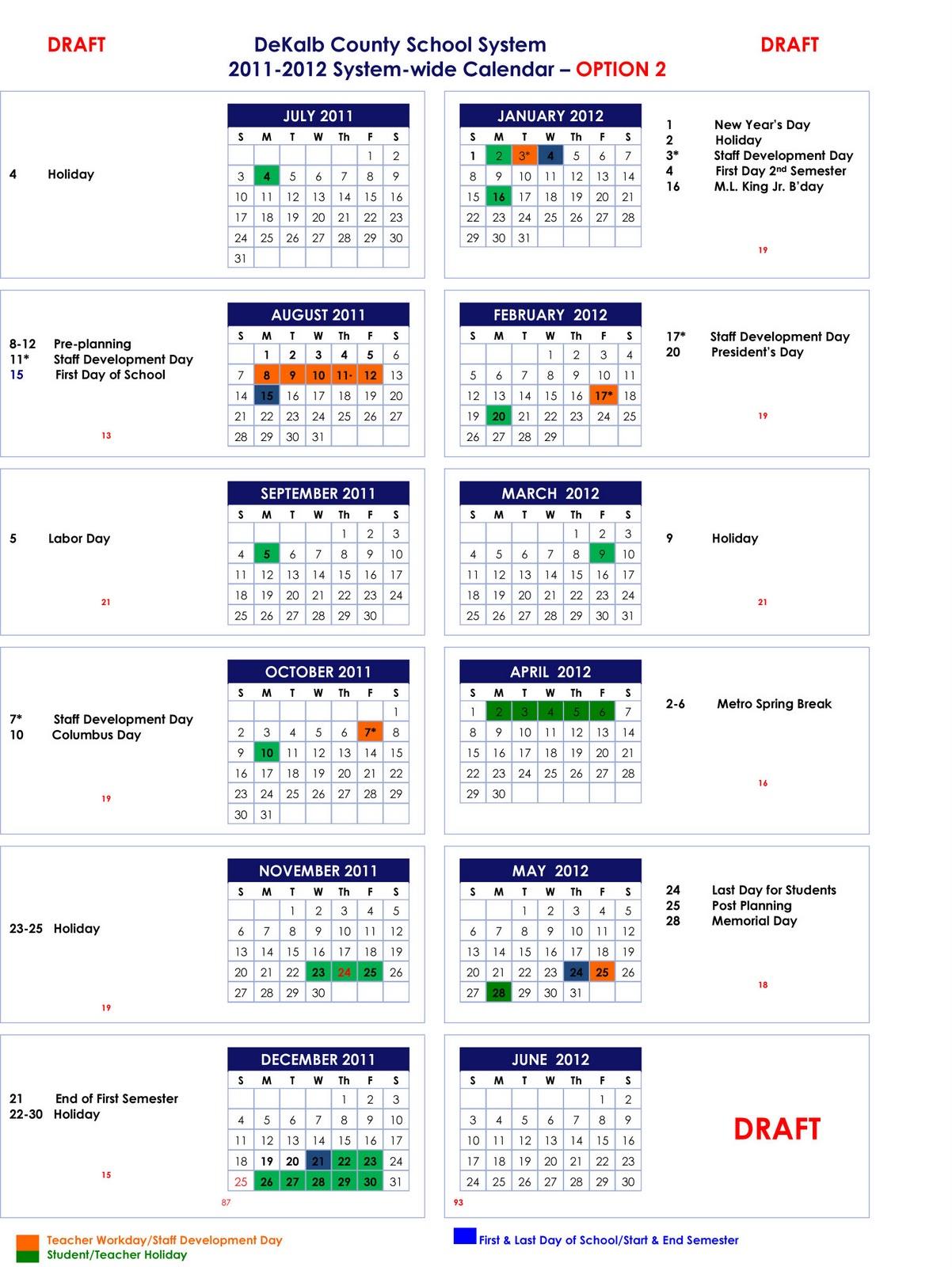 orange county school calendar