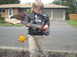 young street musician in the making