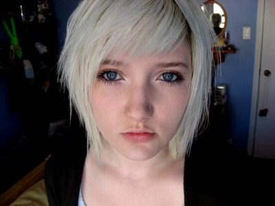 short emo girl hairstyles. A.Short Blonde Emo Hairstyles