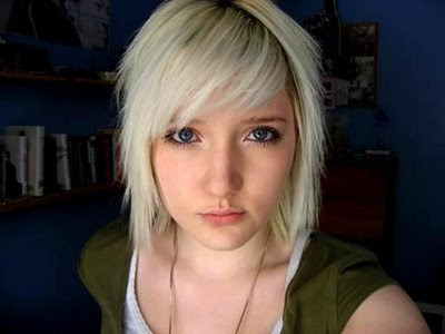 punk hairstyles for girls with medium. A.Short Blonde Emo Hairstyles