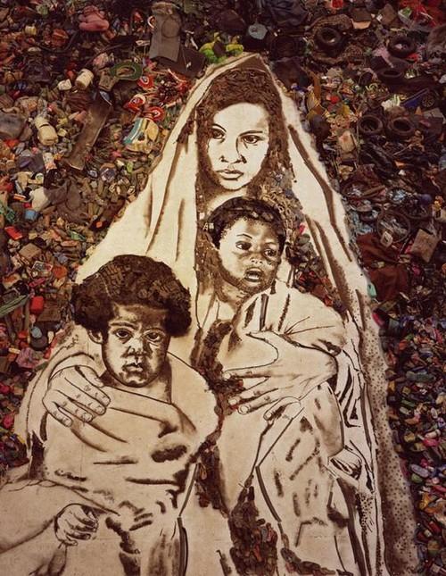"""jardim infancia horta nova:Vik Muniz é espetacular em transformar """"lixo"""" em arte."""