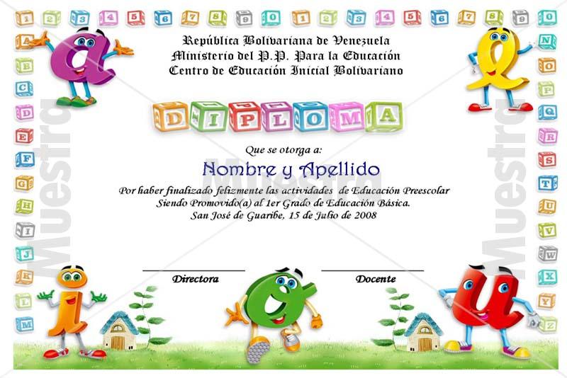 Diplomas editables para niños - Imagui