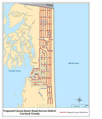Carova Beach Map