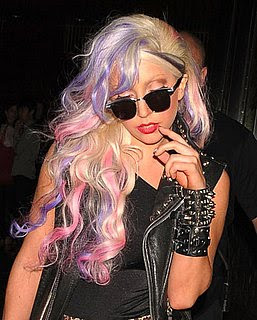 Trendy Hairstyles 4 Me Lady GaGa New Hair Color Candy Rainbow Colored