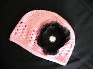 Hat with Flower Clip