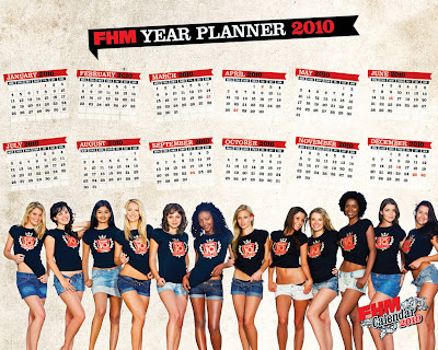 fhm wallpaper. FHM Calendar 2010 - HQ