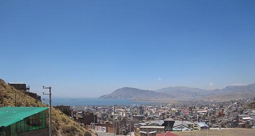 Ausblick Hostel Titicacasee