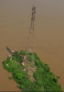 Electric Pylons on Orinoco River