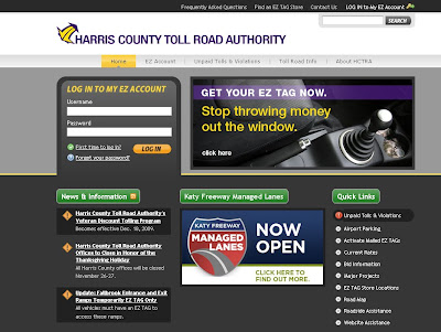 HCTRA Login - www.hctra.org, Harris County Toll Road Authority