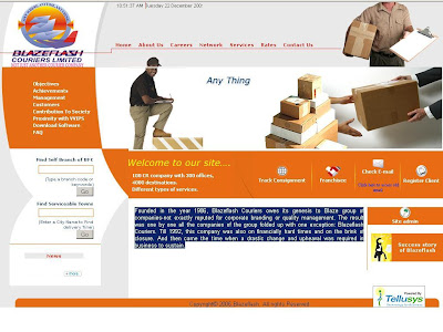 BlazeFlash Courier Tracking India, www.BlazeFlash.com Tracking