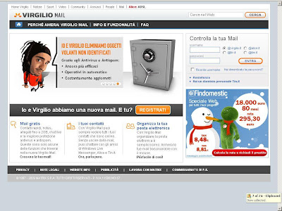 Virgilio mail login - mail.virgilio.it Login Page