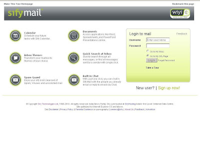 www.SifyMail.com Login - Sify Mail at Mail.Sify.Com
