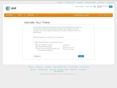 How to Activate Service at www.att.com/activations