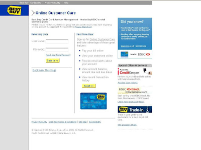www.Hrsaccount.com/Bestbuy - BestBuy Credit Card Account Management