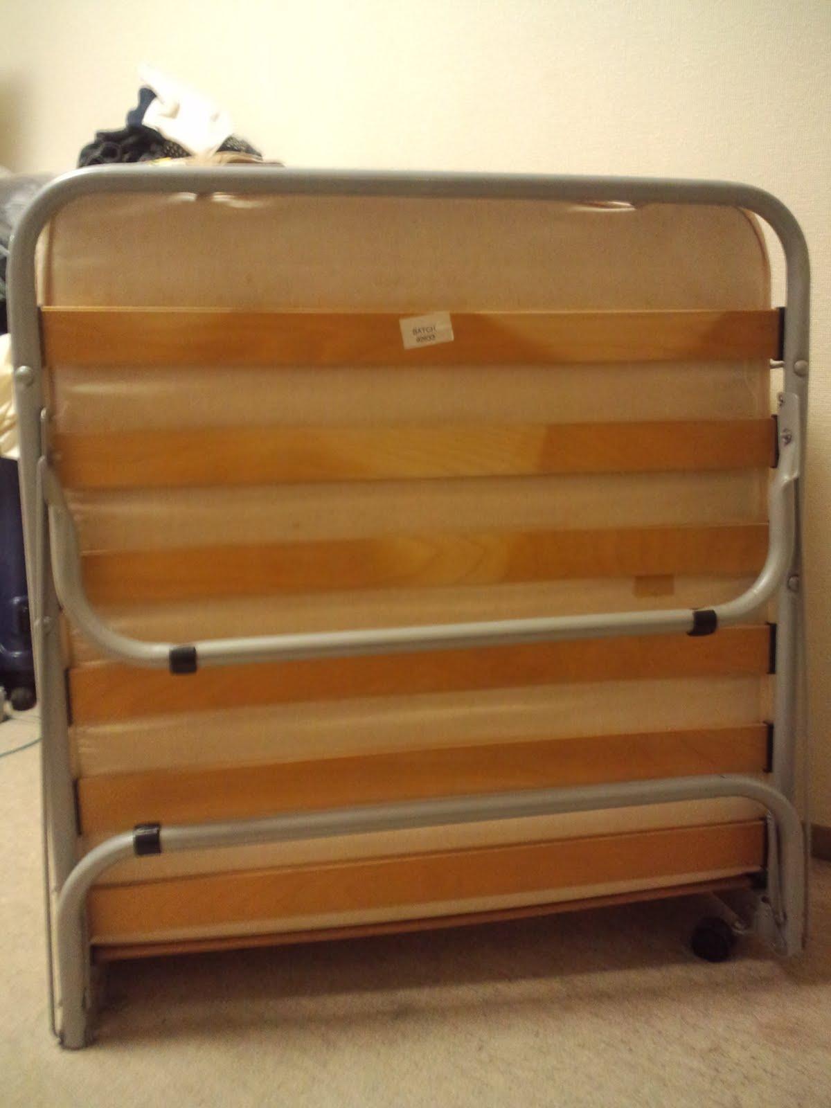 引っ越し売り: 無印 パイン材スプリング折りたたみベッド(廃盤):無料