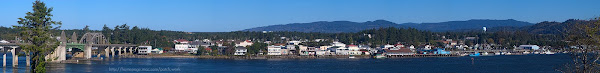 Old Town Florence and the historic Siuslaw River Bridge