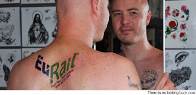 Guy get train logo tattooed for free tickets