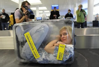 Woman in Suitcase, Stop Human Trafficking, Amnesty International