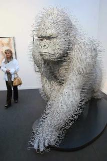 Gorilla coat hanger statue