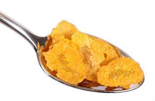 Kellogs's laser-branded cornflakes