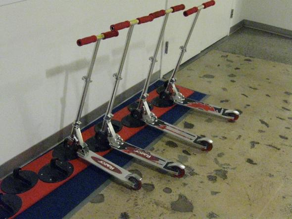 google new york office scooters slides