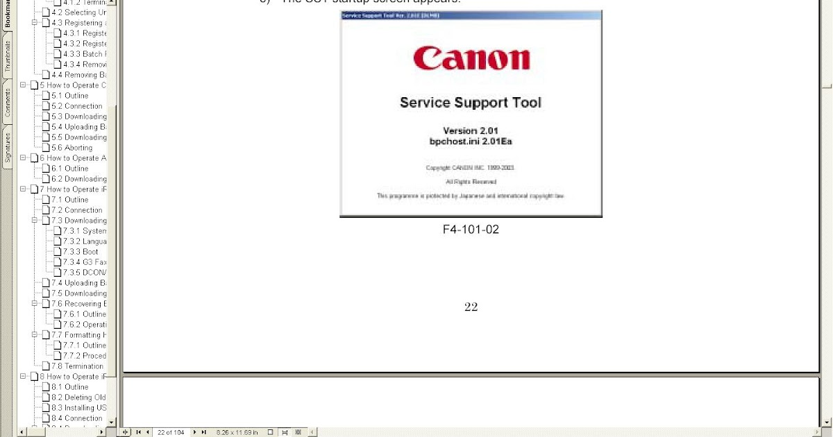 download general tool resetter canon ip1980