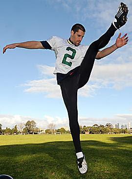 Chris Bryan kicking