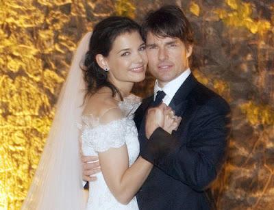 katie holmes wedding pictures