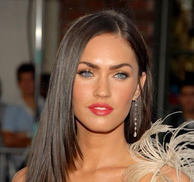2006 long hair hairstyles for brunets. Megan Fox 2009 Hairstyles With Long Bangs