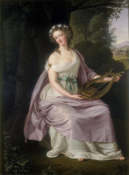 Marie-Antoinette in Art Guttenbrunn_-_Marie_Antoinette_as_Erato_-_1788