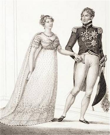 King Leopold I (1790-1865) and Queen Louise-Marie (1812-1850) Princesscharlottewedding
